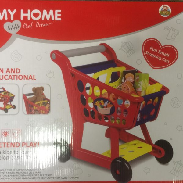 CifToys Small Home Shopping Cart grocery Supermarket Playset