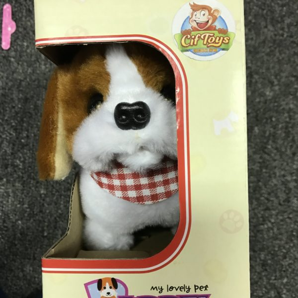 CifToys Puppy Plush Toy (Walking, Barking, and Wagging the Tail)1