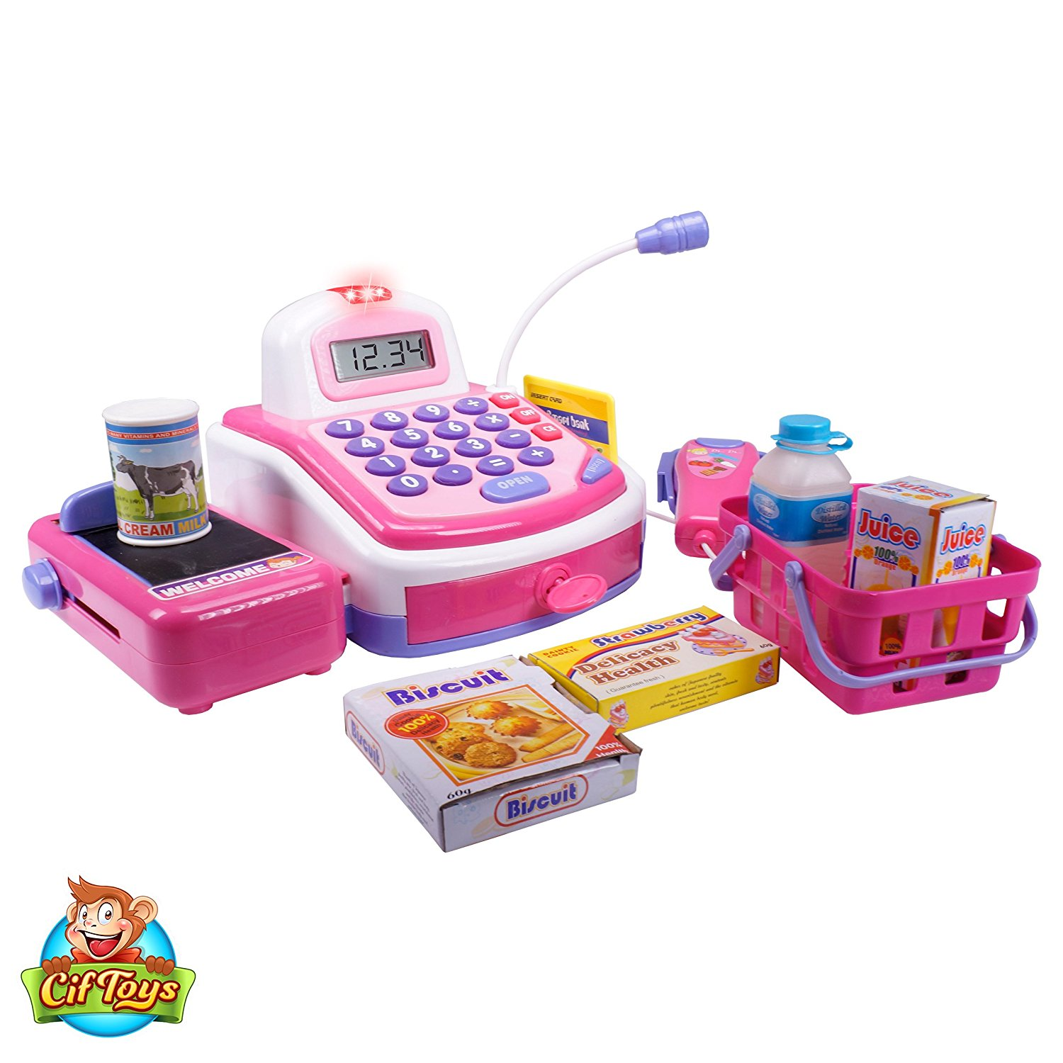 Cashier Toy Cash Register Playset By Ciftoys Pretend Play Set For