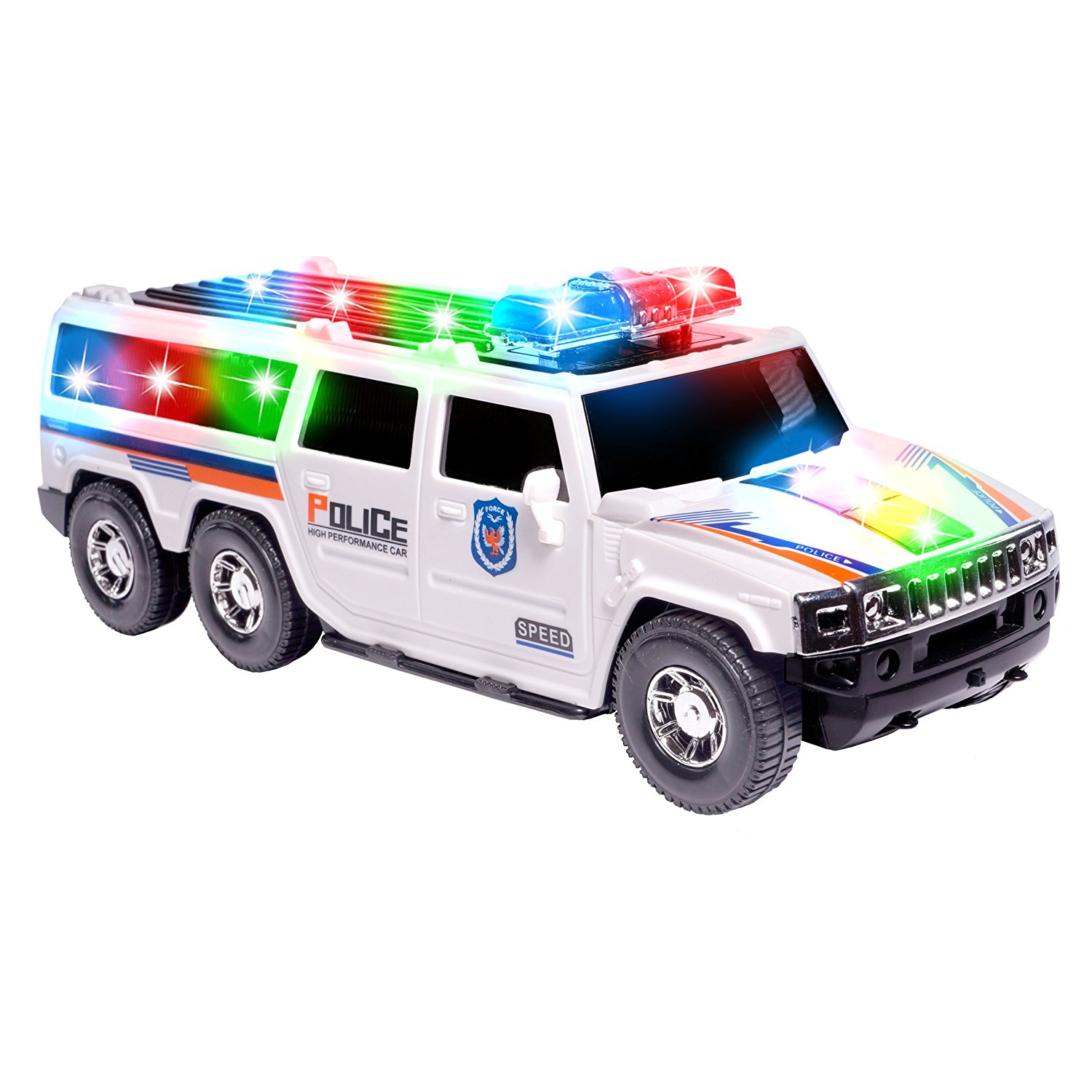 Car For Kids >> Ciftoys Police Toy Car For Kids Suv Cop Car With Colorful Flashing Lights Sirens Sounds Talks Birthday Gift For Boys Toddlers Large Vehicle